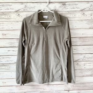 Columbia Gray Lightweight Zip Pullover L